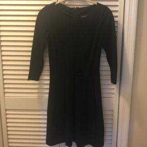 Banana republic black ponte 3/4 sleeve dress